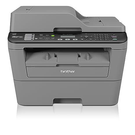 Brother Impresora multifunción láser (Monocromo, compacta, conectividad de Red precableado, Pantalla táctil, USB y WiFi Negro Negro