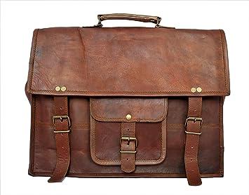 """RusticTown Bolsa de ordenador portátil 15 """"Messenger de piel Vintage hecho a mano ecológico"""