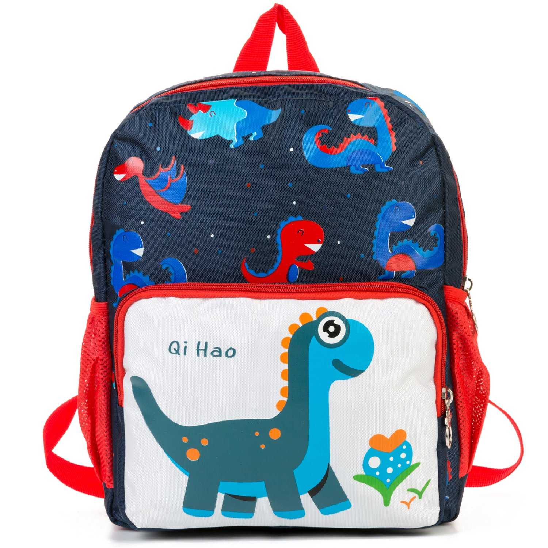 MODARANI Little Kid's Durable Preschool Shoulder Bag Lovely Dinosaur Design Kinder Knapsack(Blue)