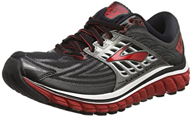 Brooks Men's Glycerin 14 Black/High Risk Red/Anthracite Sneaker 8 D (M