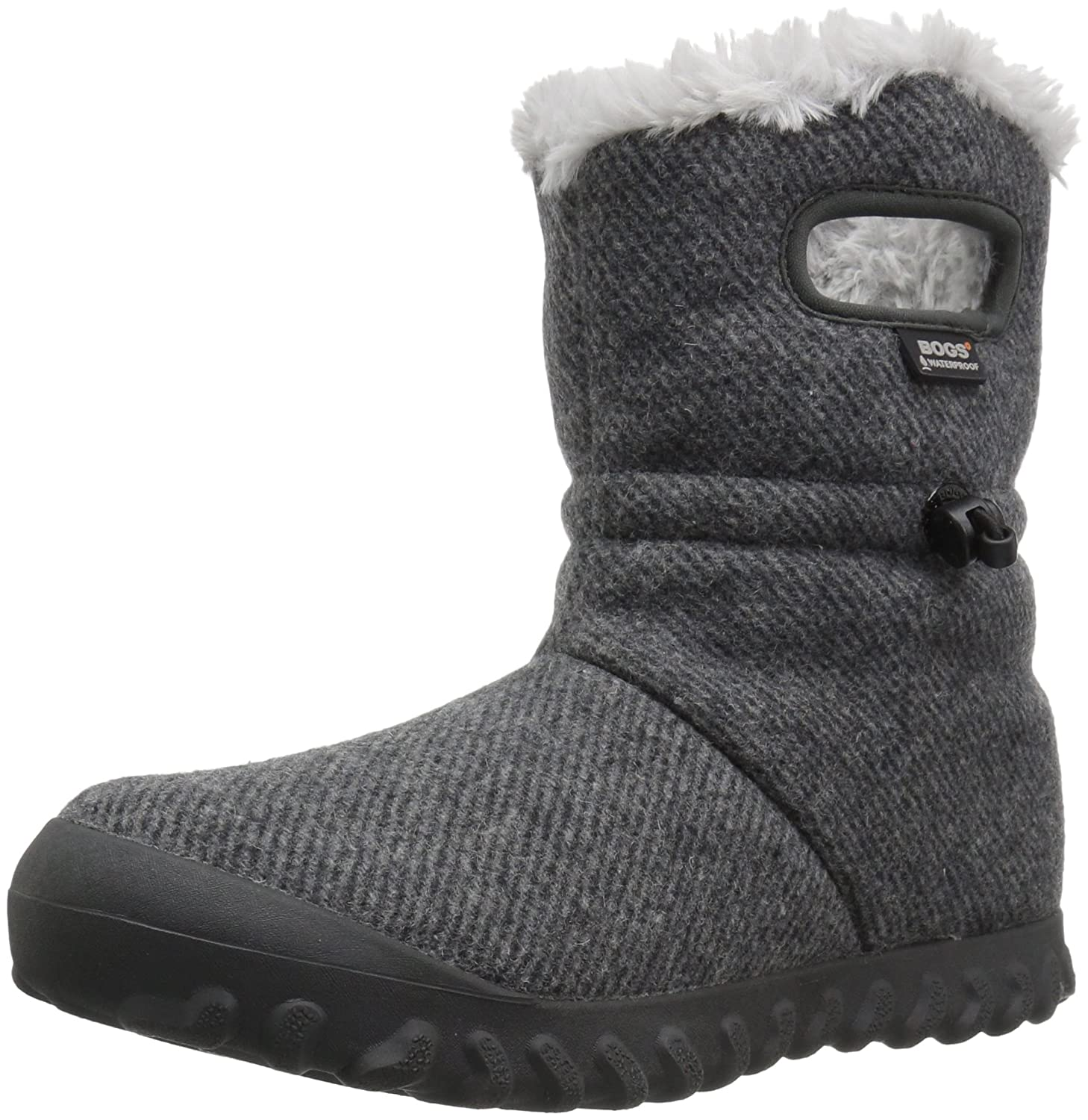 Bogs Women's Bmoc Wool Snow Boot B01MTT40B1 6 B(M) US|Charcoal