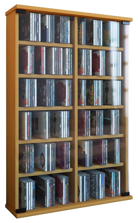 VCM Regal DVD CD Rack Turm Medienregal Medienschrank Aufbewahrung ...