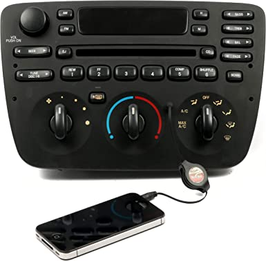 1 Factory Radio AM FM CD Player w Aux Input Compatible With 2000-04 Ford Taurus 1F1F-18C858-DC