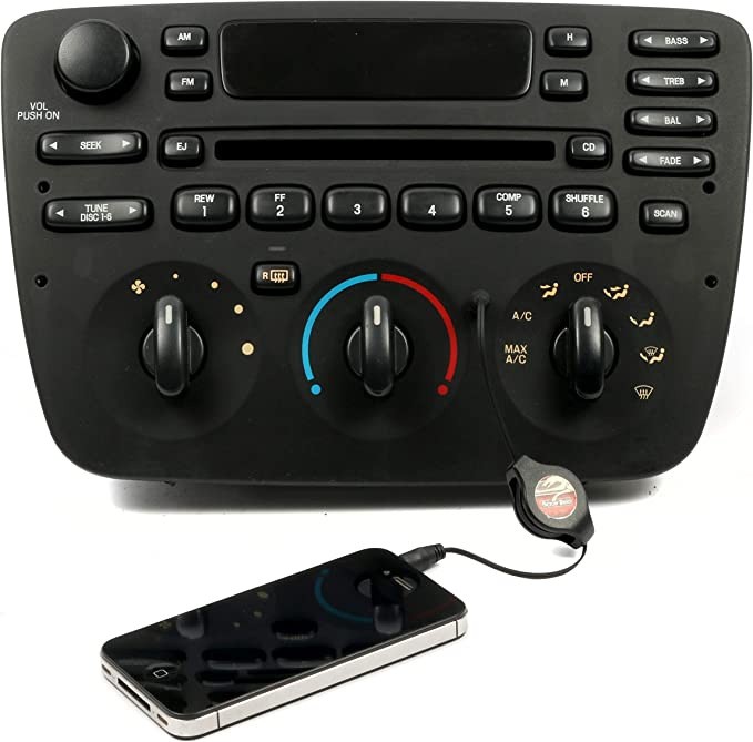 NEW AUXILIARY AUX INPUT FOR FACTORY RADIO WORKS WITH IPOD IPHONE ANDROID /& MORE