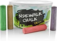 Sidewalk Chalk Set – Pack of 52 Multi-Color Jumbo Street Chalks – 10 Bright & Cheerful Colors – Nontoxic, Washable Tapered C