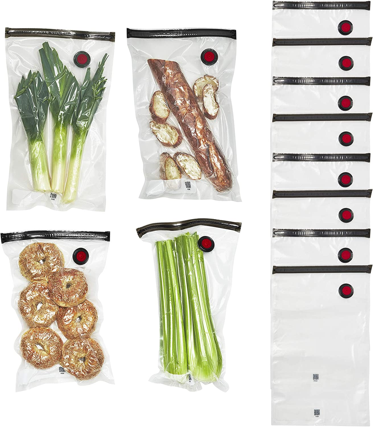 ZWILLING Fresh & Save Vacuum Sealer Bags for Food Set 12-pc - Large, clear