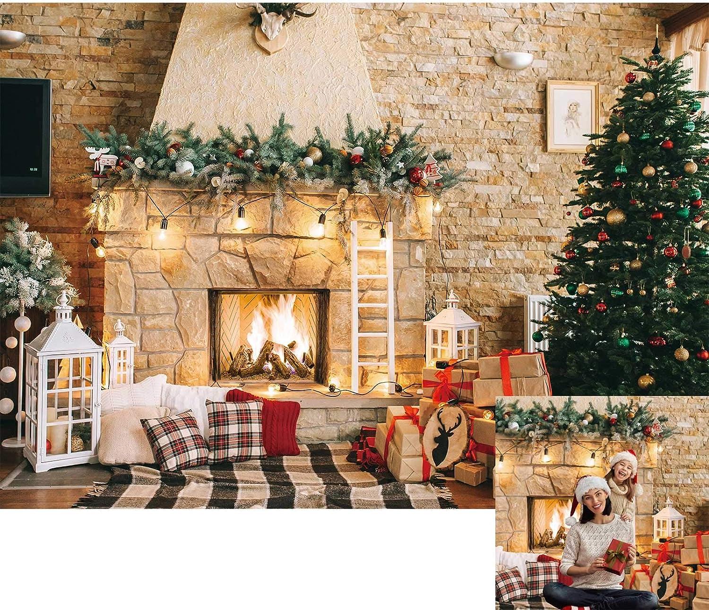 Allenjoy Kulisse Für Weihnachten Kamin Kamera
