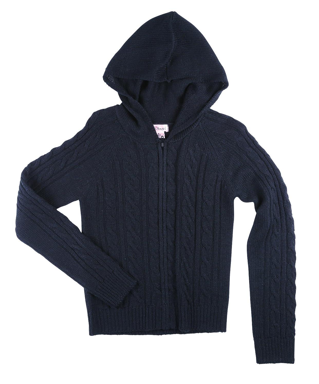 Pink Angel Girls School Uniform Cabled Zip Hoodie