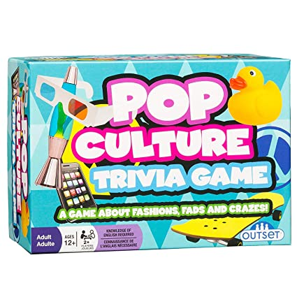 amazon com pop culture trivia a game about fashions fads and