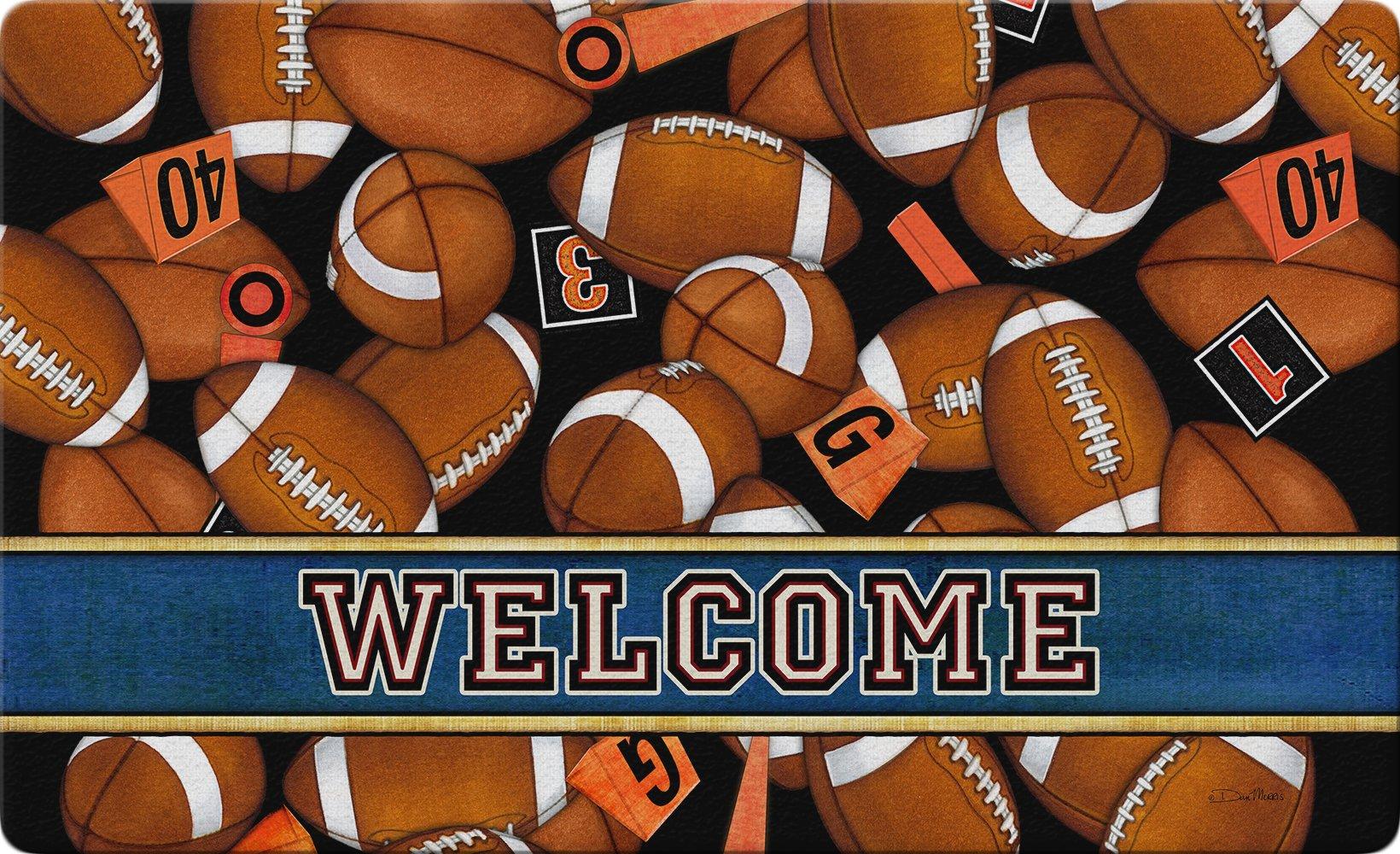 Toland Home Garden Game Time 18 x 30 Inch Decorative Welcome Floor Mat Football Sport Doormat