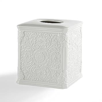 Kensington en relieve porcelana juego de accesorios de baño por Kassatex | dispensador de loción,