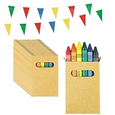 Piñatas de Cumpleaños Infantiles Partituki. 30 Sets de 6 Ceras de Colores y una Guirnalda de 10 m. Ideal para Detalles Cumpleaños Infantiles y Regalos Cumpleaños Niños Colegio: Juguetes y juegos