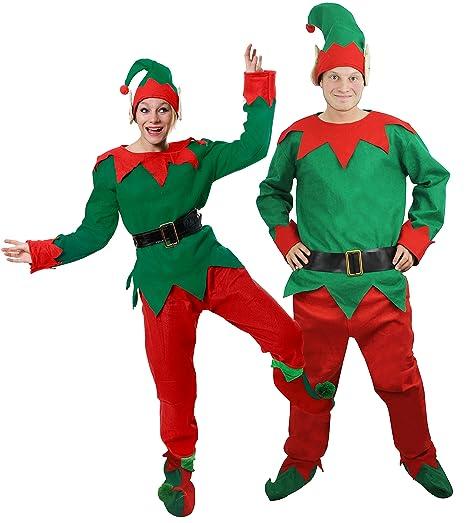 Immagini Di Folletti Di Babbo Natale.Ilovefancydress Costume Da Elfo Aiutante Di Babbo Natale