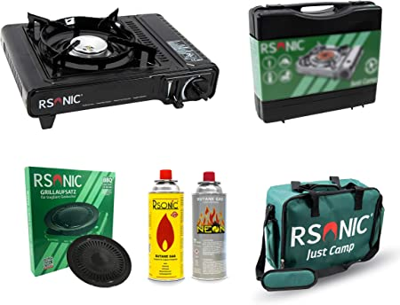 RSonic - Juego de Cocina de Gas con maletín de Transporte (227 g MSF1-A butano)