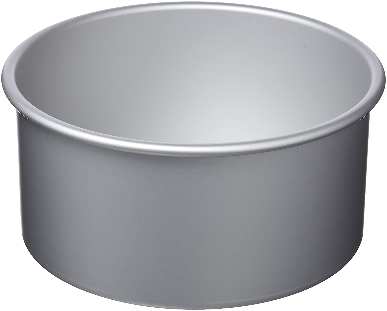Aluminium Silver 10 x 10 x 10 cm IBILI Cake pan Round//Extra deep 10x10 cm