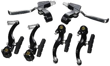 Point - Juego de frenos V-BRAKE para rueda delantera y trasera negro negro/plateado: Amazon.es: Deportes y aire libre