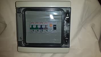fuse box in garage garage consumer unit ip65 4 way fuse box fitted with rcd 63amp  consumer unit ip65 4 way fuse box