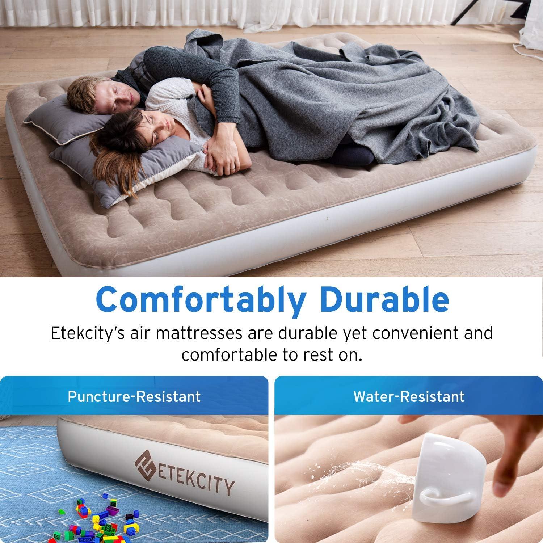 Amazon.com: Etekcity Colchón hinchable de aire para acampada ...