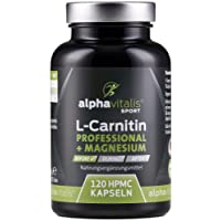 L-Carnitin Carnipure® Professional + Magnesium-Citrat - ohne Magnesiumstearat - 120 Kapseln - vegan