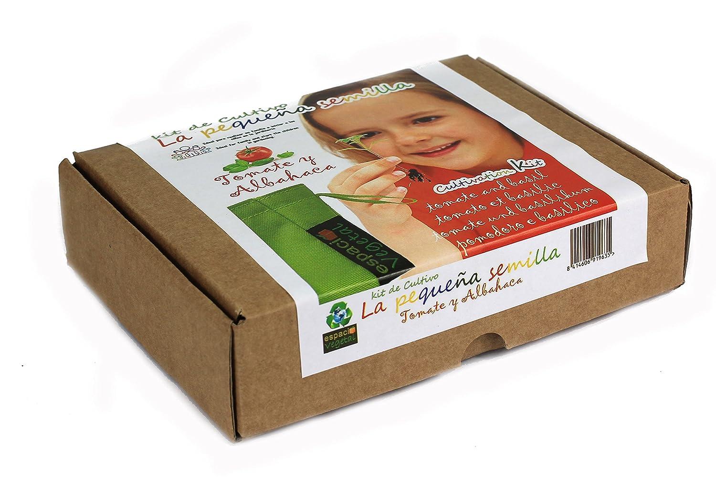 LA PEQUEÑA SEMILLA.Tomate y albahaca. Kit de cultivo.: Amazon.es ...