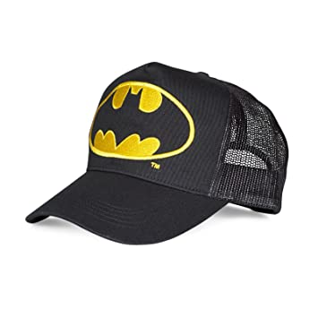 f5f5b62f2a4e BATMAN style casquette trucker filet noir lOGO bATMAN  Amazon.fr ...