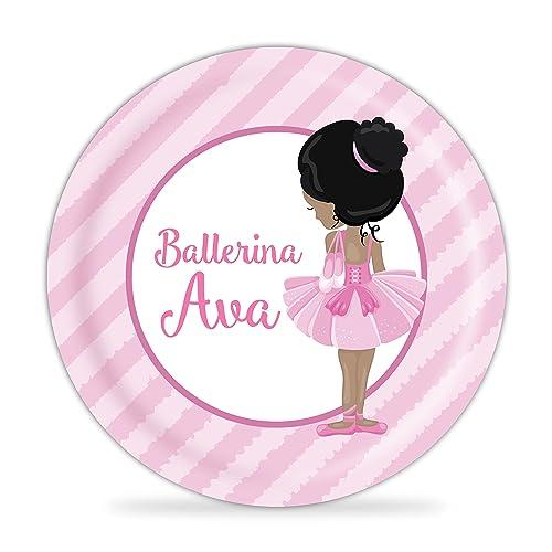 Ballerina Plate - Pink Stripe Ballet Melamine Personalized Plate  sc 1 st  Amazon.com & Amazon.com: Ballerina Plate - Pink Stripe Ballet Melamine ...