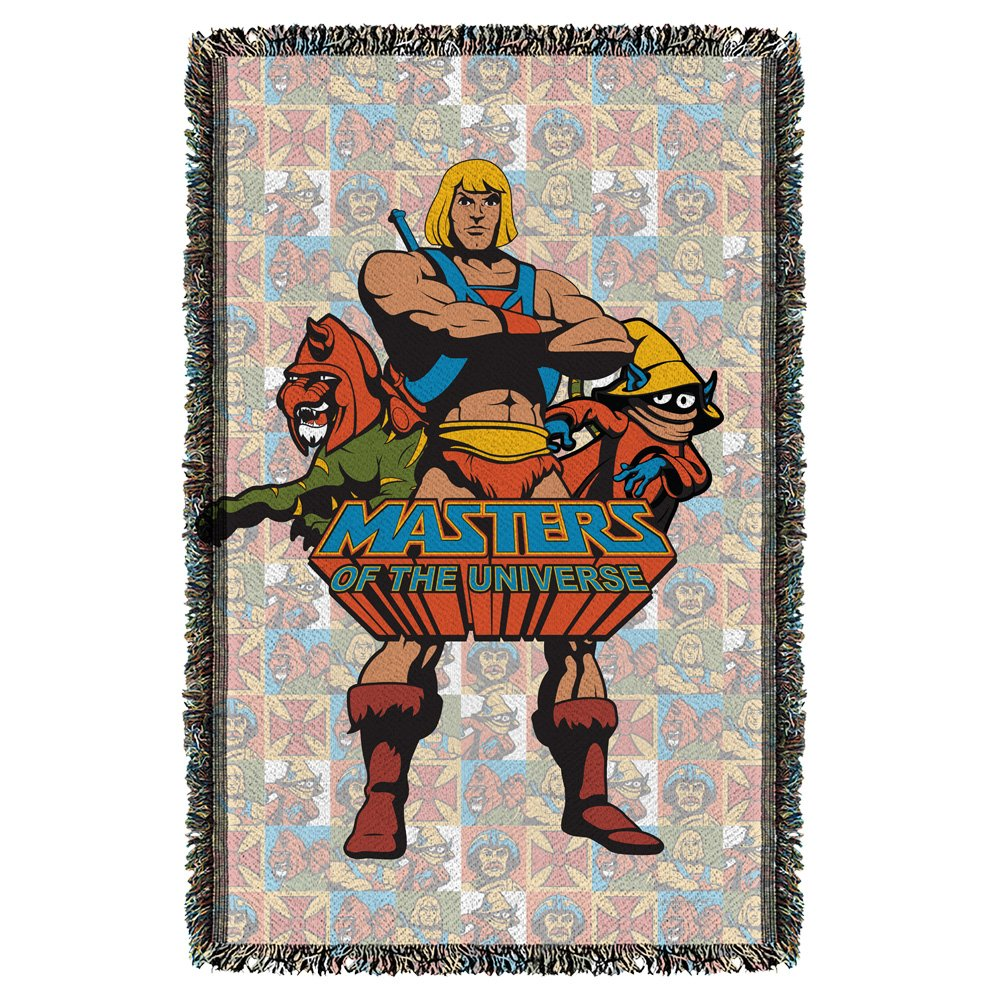 Masters Of The Universe Sci-Fi Comic Series Heroes Woven Throw Blanket