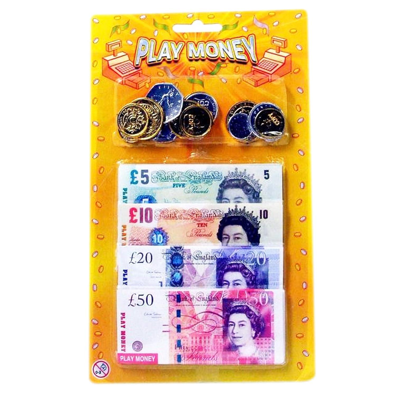 Pretend Money Role Shops Cash /£ Pound Notes Coins Toy Deco Fleur Childrens Kids Play Money