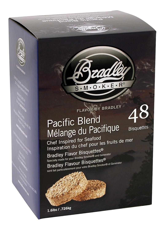 Bradley Smokers Pacific Blend Bisquettes (2.75 x 6.875 x 9.25-Inch, Pack of 48) Bradley Smoker USA Inc. BTPB48