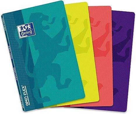 Oxford Openflex - Pack de 10 libretas grapadas de tapa blanda, 9 x 14 cm: Amazon.es: Oficina y papelería