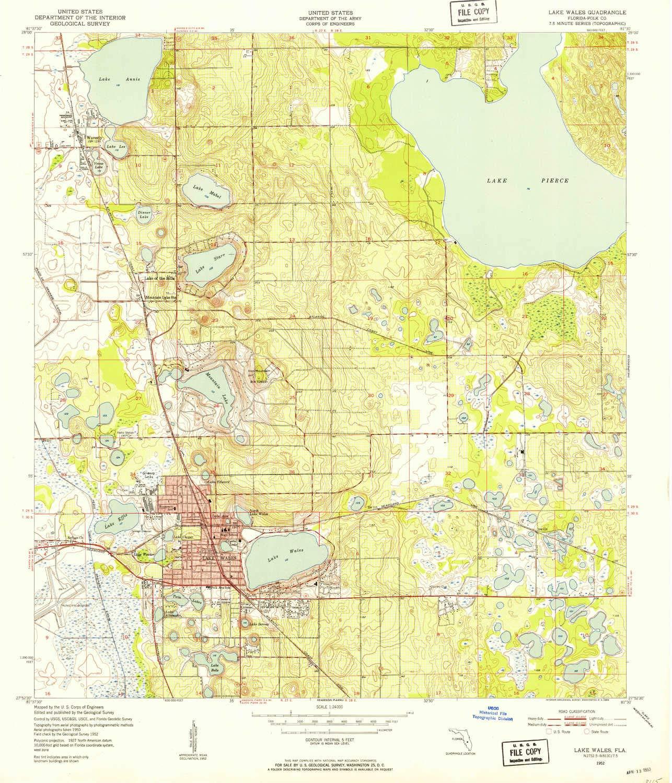 Amazon.com : YellowMaps Lake Wales FL topo map, 1:24000 ...