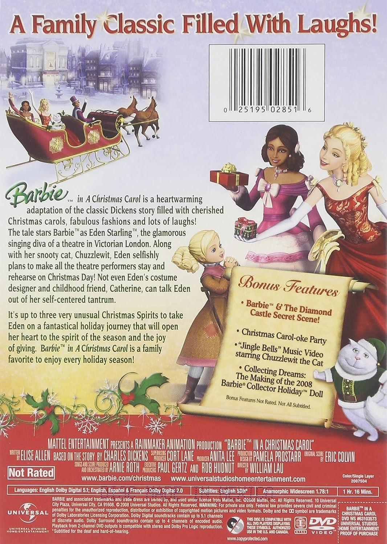 Amazon Com Barbie In A Christmas Carol Kelly Sheridan Morwenna Banks Melissa Lyons Prudence Edwards Leanne Araya Kandyse Mcclure Shauntia Fleming Kathleen Barr Hyatt Pam Tabitha St Germain Lisa Roth Gwynyth Walsh Kelly