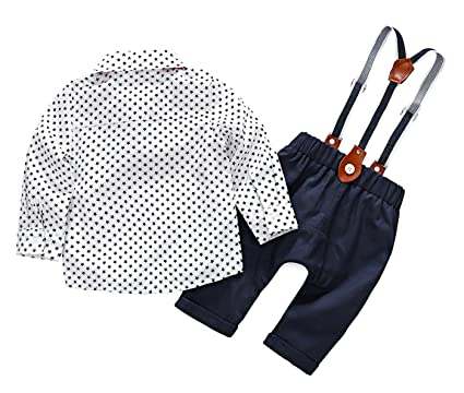 75724cbac Feoya Mono con Pantalones Tirantes Ajustables Traje Diario Ropa Casual para  Bebé Niño 6-9 Meses - Auzl