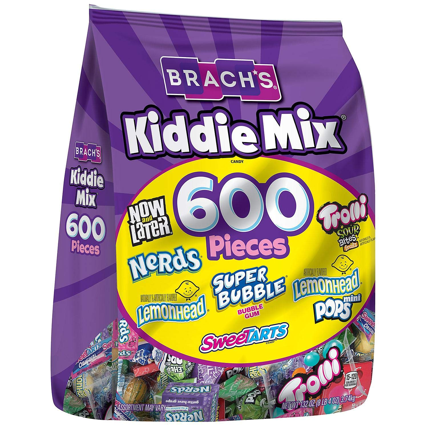 Seven delicious pieces of candy to choose from Brach's Kiddie Mix by Brach's