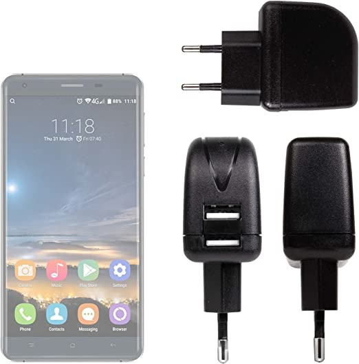 DURAGADGET Cargador con Enchufe Europeo para Smatphone Hisense C30 ...