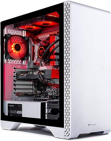 Amazon.com: Thermaltake LCGS Glacier 300 AIO Liquid Cooled CPU Gaming PC (AMD RYZEN 5 3600 6-core, ToughRam DDR4 3200Mhz 16GB RGB Memory, RTX 2060 Super 8GB, 1TB SATA III, Win 10 Home) S3WT-B450-STL-LCS: Computers & Accessories