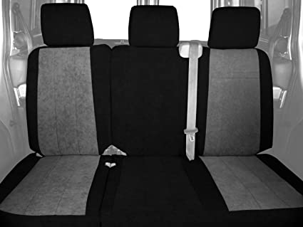 0d04b38e995c5 CalTrend Rear Row 60/40 Split Bench Custom Fit Seat Cover for Select Toyota  RAV4 Models - MicroSuede (Light Grey Insert with Black Trim)