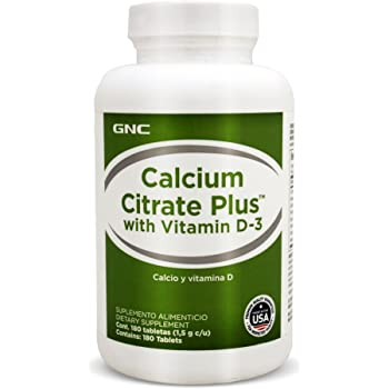 GNC Calcium Citrate Plus with Magnesium Vitamin D3-180 caplets