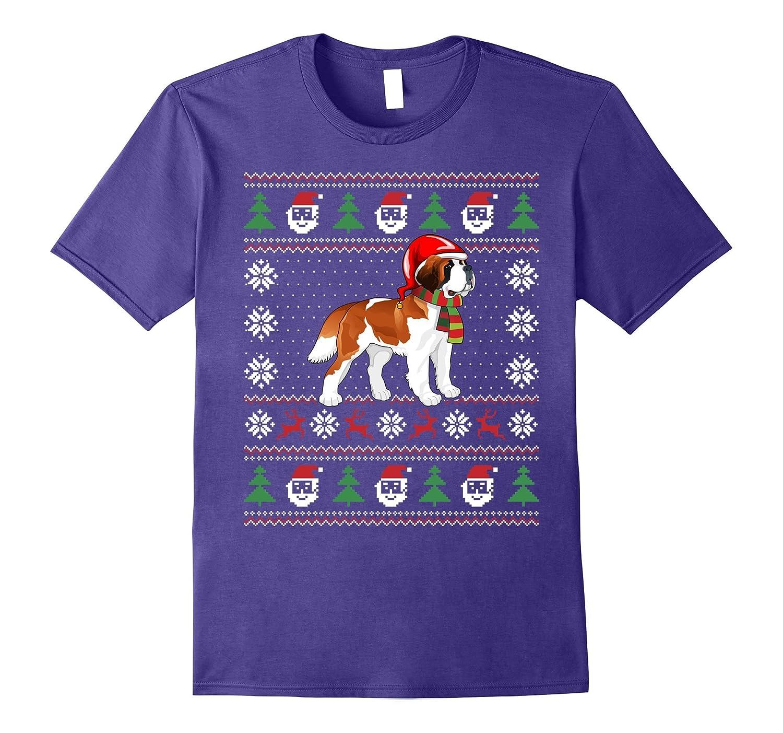 6be8a3407f543 Saint Bernard Dog with Santa Hat T-Shirt for Christmas-ANZ ⋆ Anztshirt