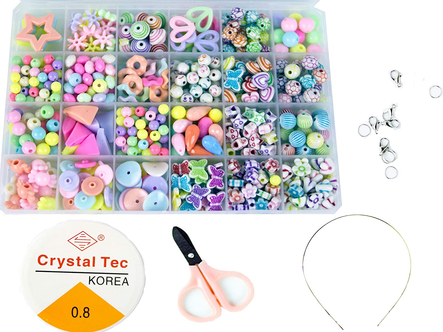 Colorful Candy 500pcs H10N 24 griddiy 500PCS Children Beaded Toys Amblyopia Correction Beads Educational Toys,it can Also be Used to Make Bracelets or Necklace.