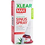 XLEAR MAX Homeopathic Saline Nasal Spray with Capsicum, 1.5 fl oz