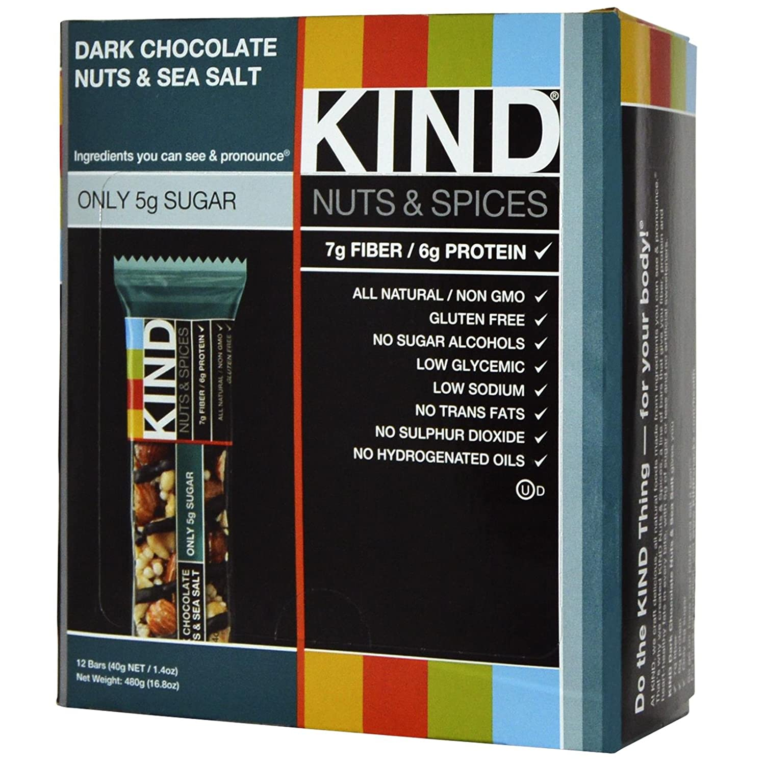 Kind Dk Choc/Seasalt 1.4oz Bar - Box of 12