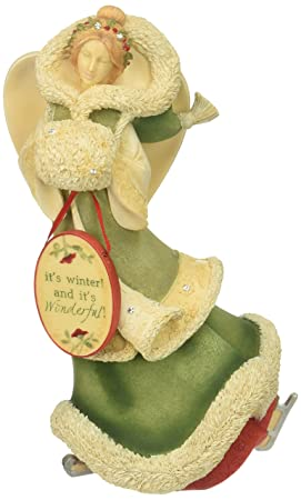 Enesco Heart of Christmas Winter Angel with Ice Skates Figurine 7.87 in