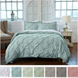 Signature Pinch Pleated Pintuck Duvet Cover 3...
