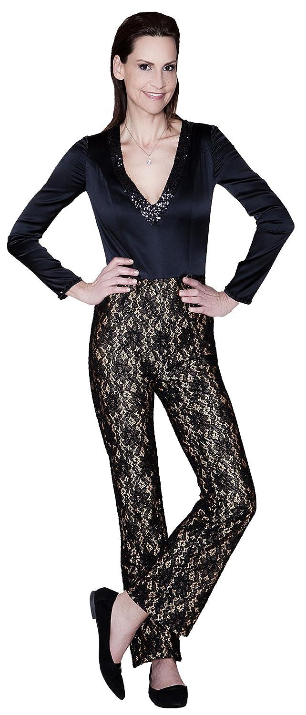 Modischer High Fashion Seidenoverall, Abendmode, Made in Germany, Handgefertigt, Einzelstück, Designermode, Musterteil
