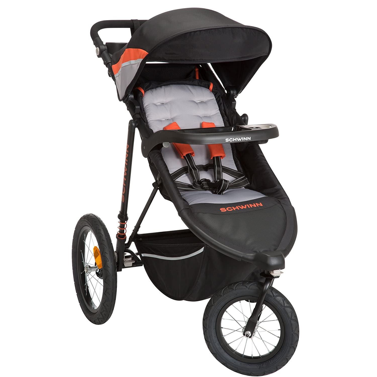 Schwinn Interval 2-in-1 Jogging Stroller with Locking Front Wheel (Oriole) CV309EHC