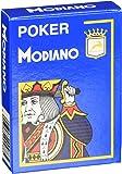 Modiano Spielkarten 488 - Poker Cristallo, 4 Index hellblau