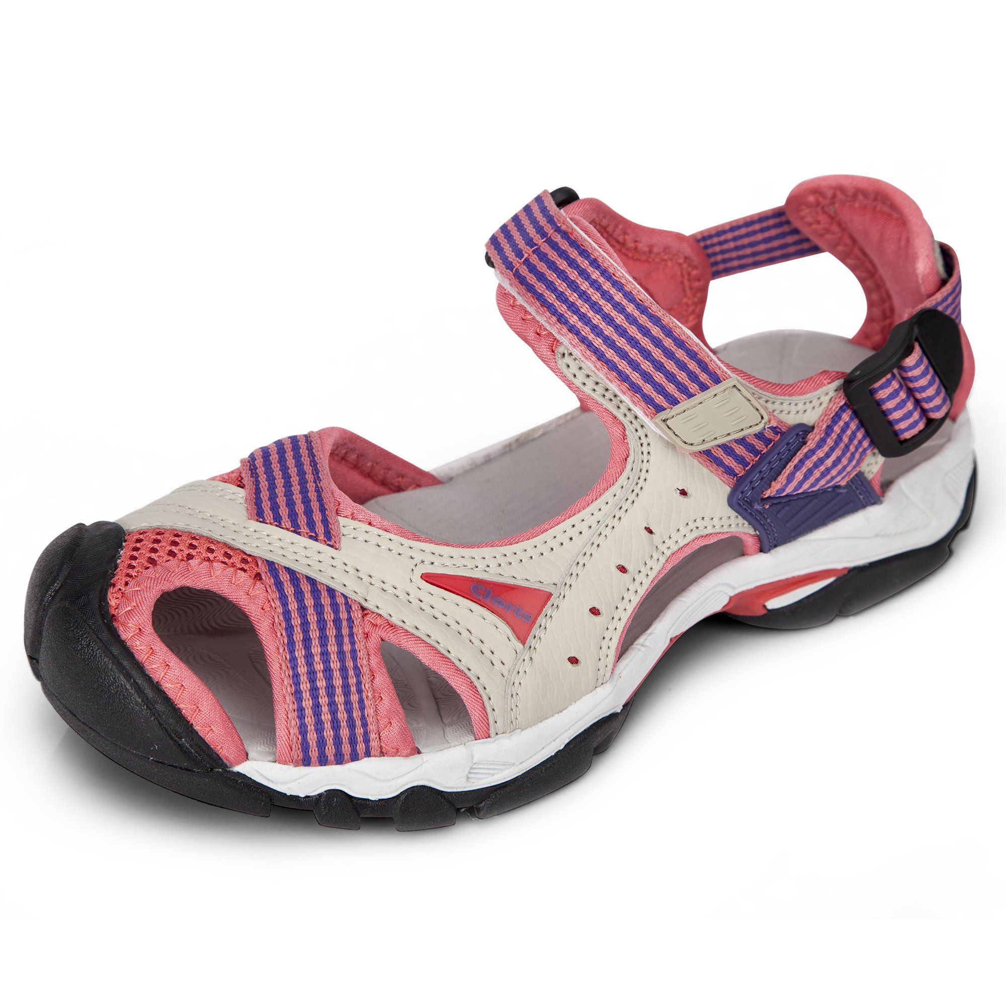 Clorts Women's Lightweight Athletic Sandal Outdoor Seaside Water Sneaker Pink SD-202B US7
