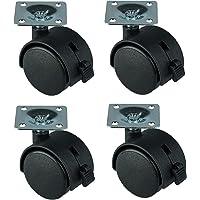HRB ruedas para muebles con freno (4unidades, 40mm
