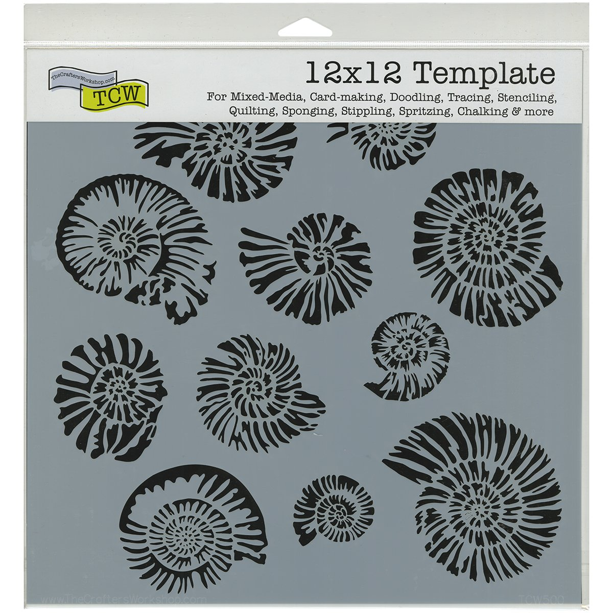 Crafters Workshop Plastic Template 12-inch x 12-inch Nautilus TCW-500